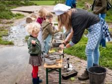 Moddercappuccino's maken en appels uit de boom schieten tijdens oogstfeest op landgoed Bredius