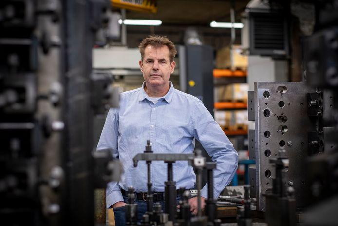 Directeur Herman Ponstein van Machine Fabriek Elburg.