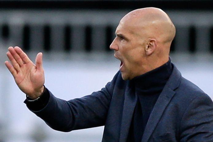 Vitesse's coach Thomas Letsch in de bekerfinale tegen Ajax.