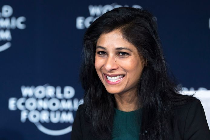 Hoofdeconoom het Internationaal Monetair Fond, Gita Gopinath.