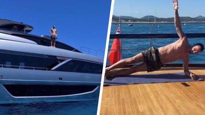 Die denkt nog lang niet aan stoppen: Zlatan (38) toont indrukwekkende fysiek op superjacht
