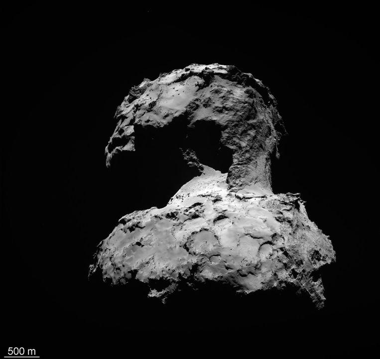 De gehele komeet vanuit de ruimte gefotografeerd. Beeld epa