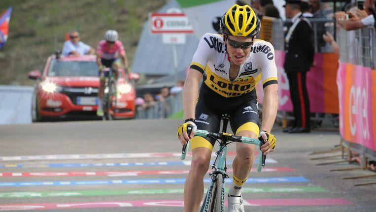 Steven Kruijswijk tijdens de Giro d'Italia in 2016. Beeld photo_news