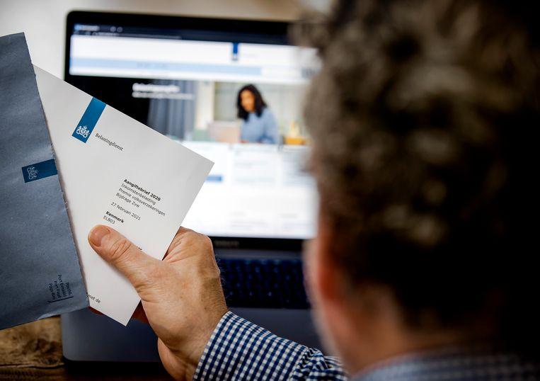 Cybercriminelen kunnen mensen te makkelijk naar een nagebouwde website van de Belastingdienst lokken. Beeld Hollandse Hoogte /  ANP