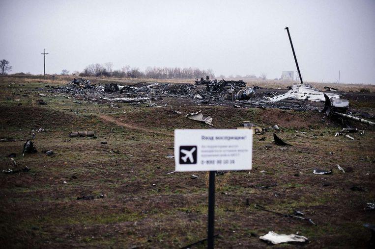 De plek waar het vliegtuig neerstortte Beeld ANP