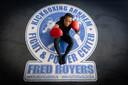 Betrian voelt zich op haar gemak in de kickboksschool van Fred Royers.