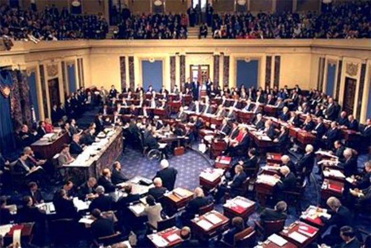 In 1999 stemde de Senaat tegen de afzetting van toenmalig president Bill Clinton. Beeld cc