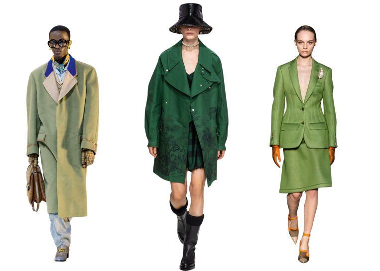 V.l.n.r.: Gucci, Christian Dior en Burberry Beeld