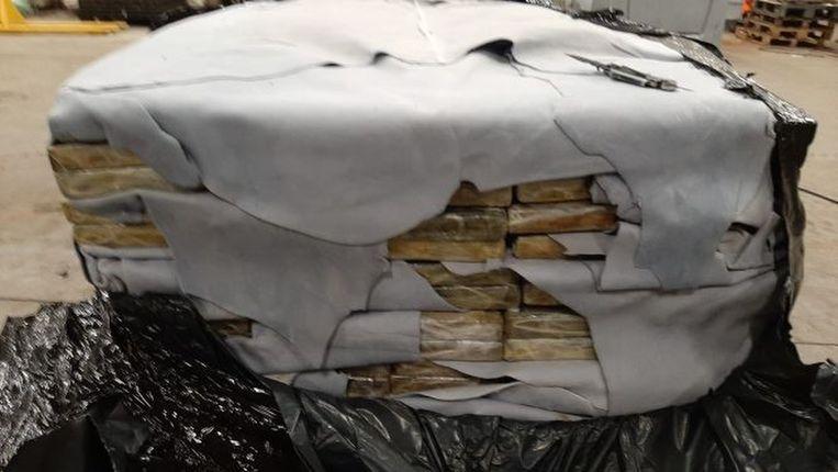 Afgelopen weekend werd in de Antwerpse haven nog 11 ton cocaïne onderschept. Beeld BELGA_HANDOUT