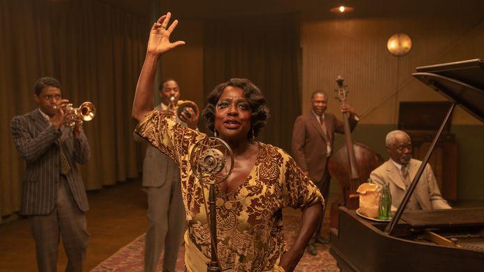 MA RAINEY'S BLACK BOTTOM(2020) 'Ma Rainey's Black Bottom': Chadwick Boseman als Levee, Colman Domingo als Cutler, Viola Davis als Ma Rainey, Michael Potts als Slow Drag and Glynn Turman als Toledo.