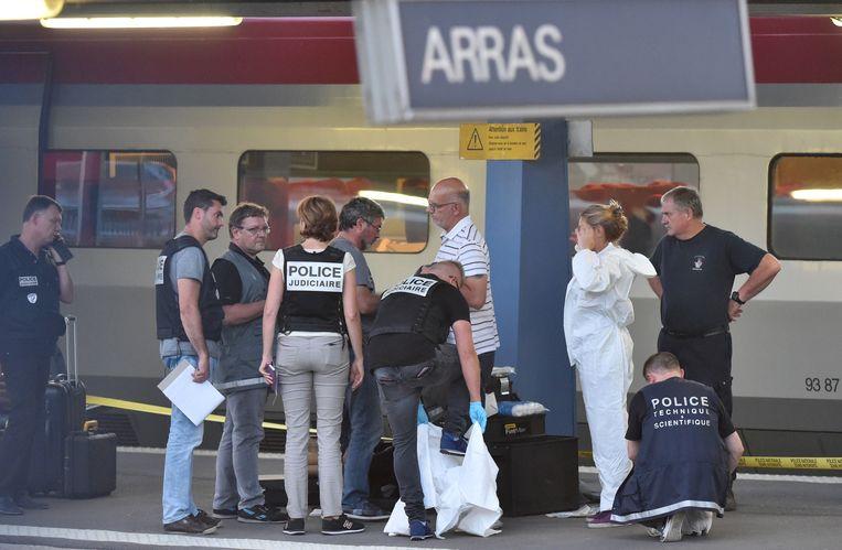 Op 21 augustus 2015 konden drie Amerikaanse reizigers vermijden dat een in Brussel-Zuid opgestapte terrorist slachtoffers maakte. Beeld AFP