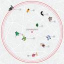 Op eenvoudige wijze kon je bewoners van Vilente via gps zo op een kaart volgen.