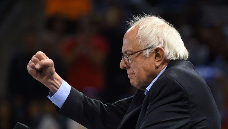 Bernie Sanders geeft niet op. Beeld afp