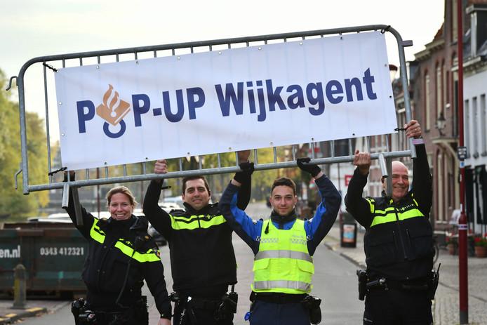 'Pop-up'-wijkagenten in Nieuwegein.