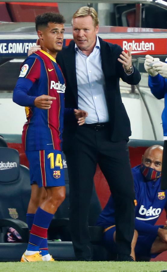 Koeman gaf een opvallende basisplaat aan Coutinho.