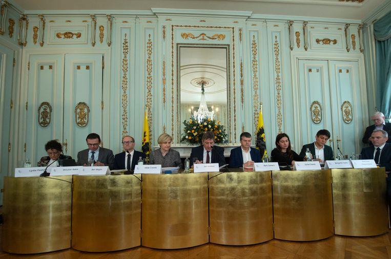 De Vlaamse regering. Beeld Photo News