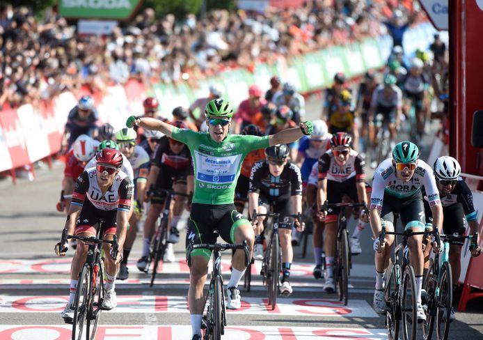 Fabio Jakobsen wint weer in de Vuelta.