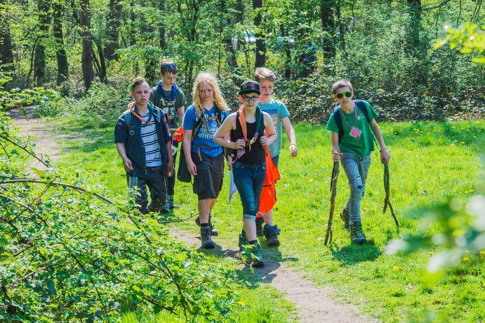 Scoutingskamp in Alphen.