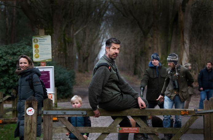 Boswachter Rein Zwaan is blij met bezoekers, maar is ook bevreesd voor de drukte in de komende dagen.
