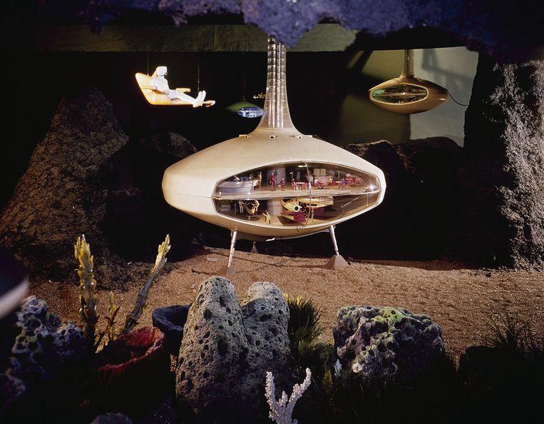 De stand van General Motors op de wereldtentoonstelling toonde maankolonies en onderwaterdorpen. Beeld AP