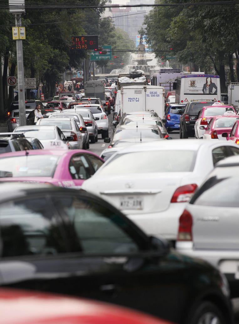 De ergste verkeersopstoppingen vind je in Mexico City. Beeld EPA