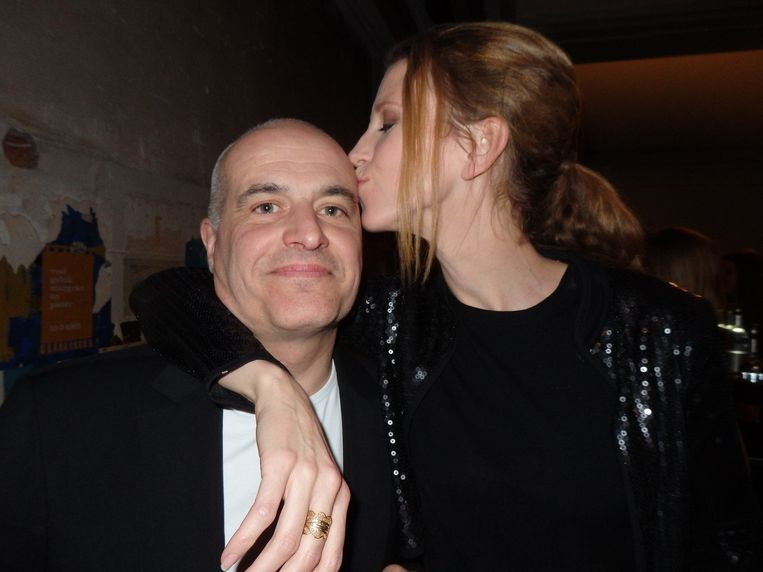 Georgina Verbaan was net weg, dus meer glamour dan dit werd het niet: Mark Koster en Jojanneke van den Berge. Beeld Schuim