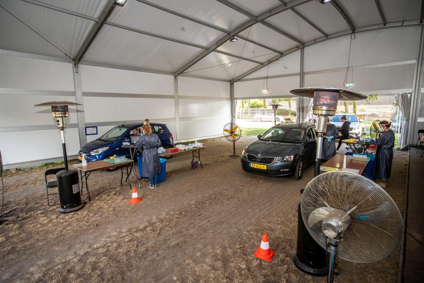 De corona teststraat in Eersel zoals deze eerder open was.