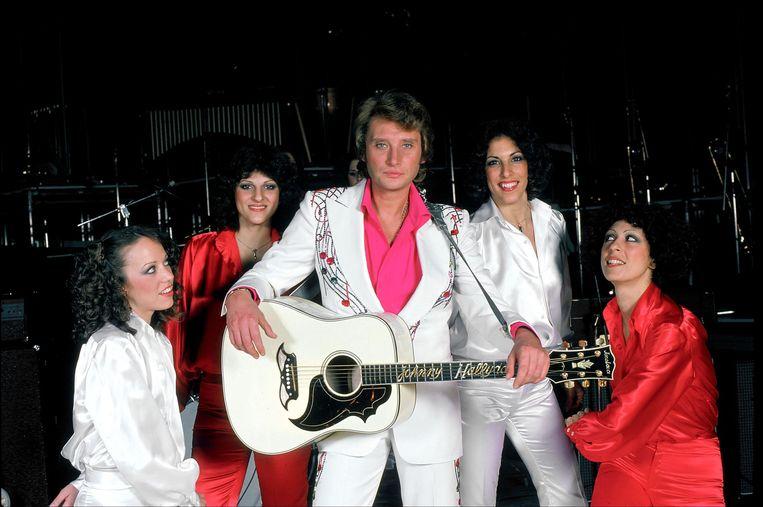 Johnny Hallyday in 1976. Beeld Photonews