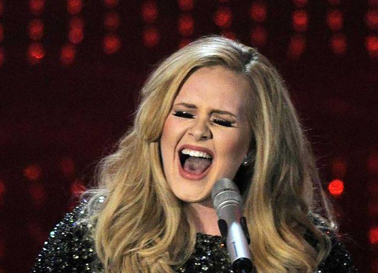 Adele tijdens de Oscars. Beeld ap