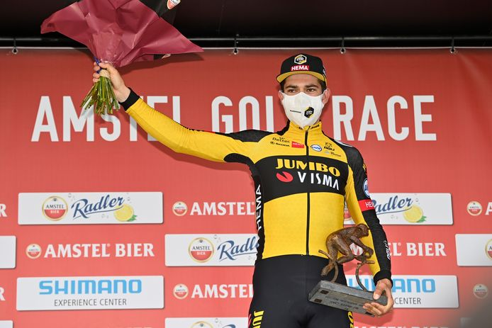 Wout van Aert won de Amstel Gold Race.