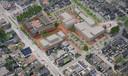 De plannen zoals ze in 2012 werden gepresenteerd. Fase 3 is het gebouw onderaan, waar nu al jaren een grasveldje ligt.