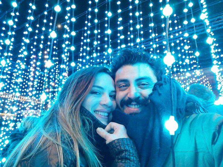 Giancarlo Agostino Di Maria overleed aan de gevolgen van het coronavirus, hier op foto samen met zijn vriendin Claudia Beeld RV