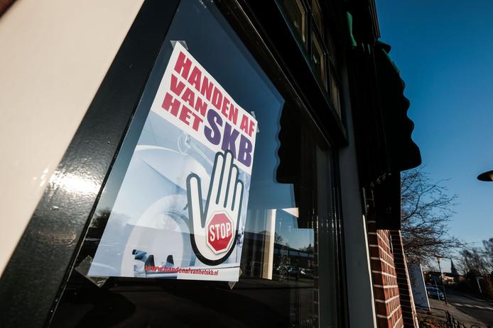 Posteractie 'Handen af van SKB'in Winterswijk