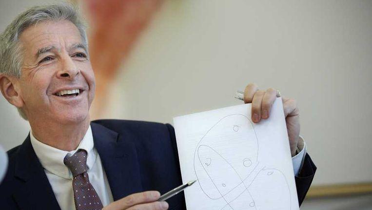 Archiefbeeld van minister Ronald Plasterk van Binnenlandse Zaken tijdens een persconferentie Beeld anp