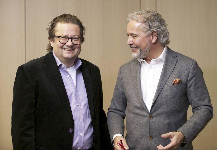 Fornieri en zijn goede vriend Marc Coucke. Beeld belga
