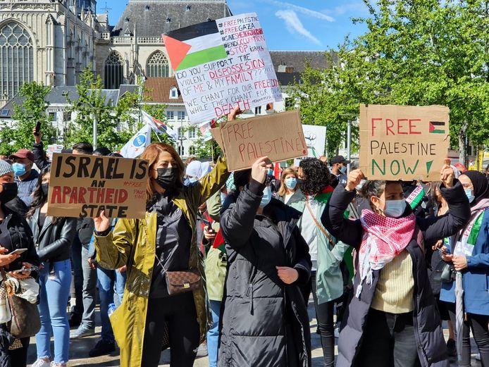 Vorige week werd er op de Groenplaats nog betoogt tegen het Israëlische regime.