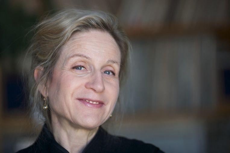 Actrice Peggy Frankston, die president Hillary Clinton speelde in de Franse miniserie L'État de Grace. Beeld Agences Artistiques