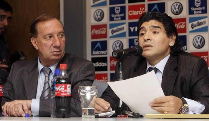 Carlos Bilardo en Diego Armando Maradona.