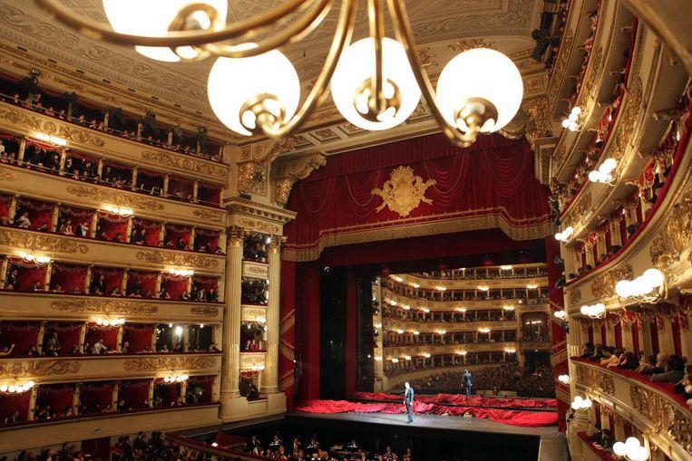 Het Teatro alla Scala in Milaan Beeld afp