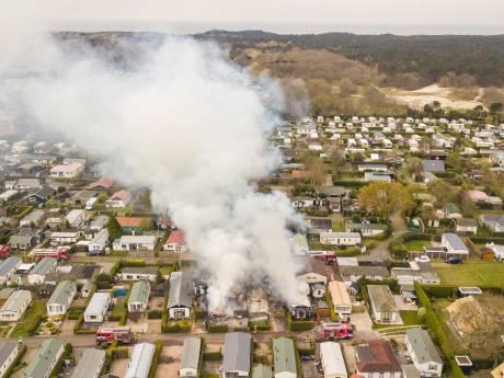 Grote brand op camping Duinrand verwoest meerdere (sta)caravans