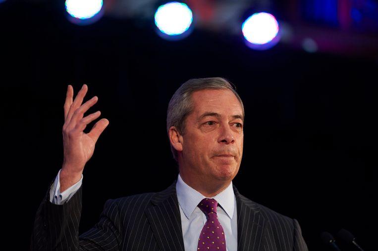 Gewezen UKIP-leider Nigel Farage. Beeld BELGAIMAGE