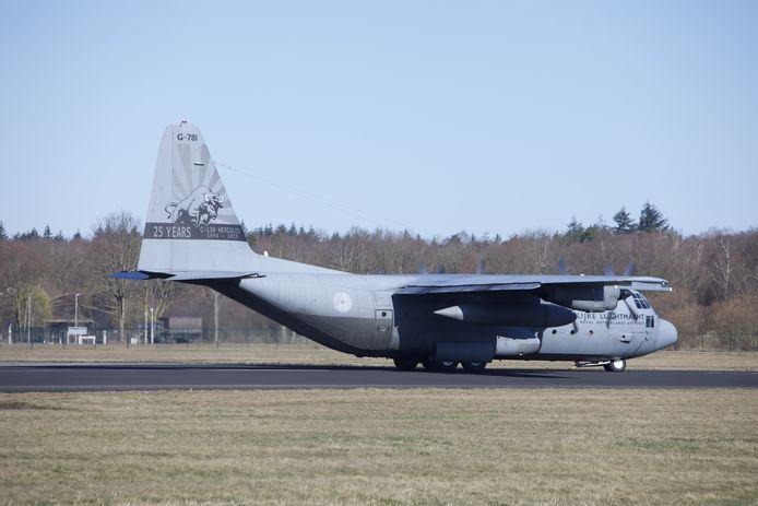 De Hercules op Twente Airport.