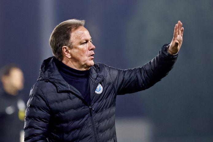 Mike Snoei, trainer van De Graafschap, kan vanavond met de club promoveren naar de eredivisie.