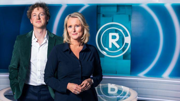 Fons Hendriks en Antoinette Hertsenberg van tv-programma Radar.