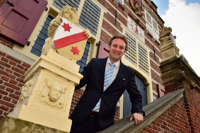 Burgemeester Pieter Verhoeve van Oudewater.