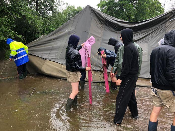 Het kamp van Chiro Tijl Zemst werd woensdag al na één dag stopgezet, maar zondag keren de leden toch terug naar de Ardennen.