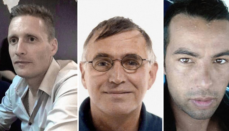 David Polfliet (†2021), Jacques Kotnik (†2012), Ihsane Jarfi (†2012) Beeld Humo