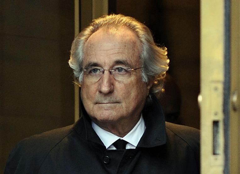 Bernard 'Bernie' Madoff, hier in december 2009, is veroordeeld tot een celstraf van 150 jaar. Beeld AFP
