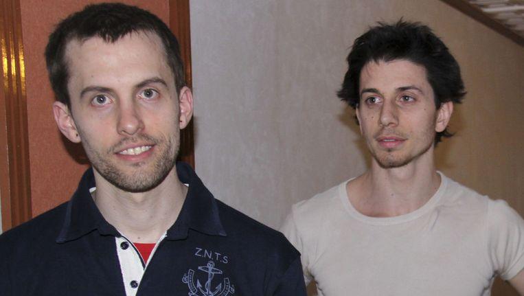 Shane Bauer (L) en Josh Fattal (R). Beeld AP