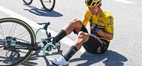 Klassementsleider Roglic onzeker voor slotetappe na val in Dauphiné